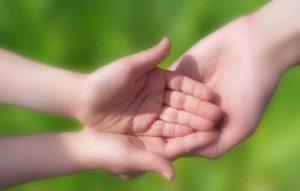 Auffangende Hände